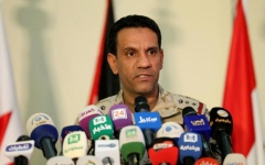 الصورة: المتحدث باسم التحالف: حددنا مناطق إطلاق الصواريخ البالستية الحوثية على السعودية