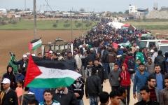 الصورة: الأمم المتحدة تطالب إسرائيل بعدم التعرض للمتظاهرين في غزة غداً