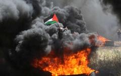 الصورة: ارتفاع شهداء غزة إلى 10 وإصابة 1400