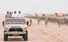 """الصورة: محمد بن زايد يشهد ختام فعاليات التمرين العسكري """" حماة الوطن 2 """""""