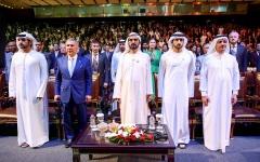 الصورة: محمد بن راشد يشهد الجلسة الافتتاحية لملتقى الاستثمار السنوي