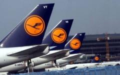 الصورة: إضراب مطارات ألمانية يدفع شركة لوفتهانزا لإلغاء 800 رحلة