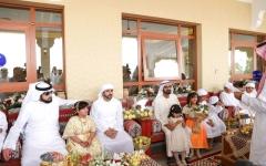 الصورة: محمد بن راشد يحضر مأدبة سلطان السبوسي