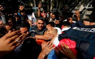 الصورة: مسيرات العودة.. إسرائيل تتعمد اغتيال الصحافيين