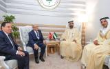 الصورة: محمد بن راشد يلتقي الباجي السبسي وعمر البشير