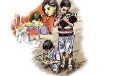 الصورة: «طبشورة في علبة» يتيح التعليم للأطفال