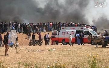 الصورة: إسرائيل تستهدف طواقم الإسعاف في مسيرات العودة