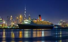الصورة: تدشين مبدئي للسفينة الفندق «كوين إليزابيث 2» في دبي