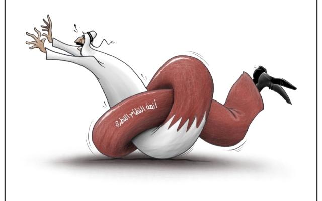 الصورة: أزمة النظام القطري