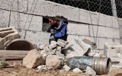 الصورة: إصابات في قصف مدفعي إسرائيلي جنوب غزة