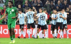 الصورة: صدمة لجماهير الأرجنتين قبل المونديال