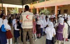 الصورة: «الهلال الأحمر».. دعم مستمر لقطاع التعليم في محافظة الضالع