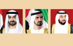 الصورة: خليفة ومحمد بن راشد ومحمد بن زايد يعزون أمير الكويت في وفاة فاضل الصباح