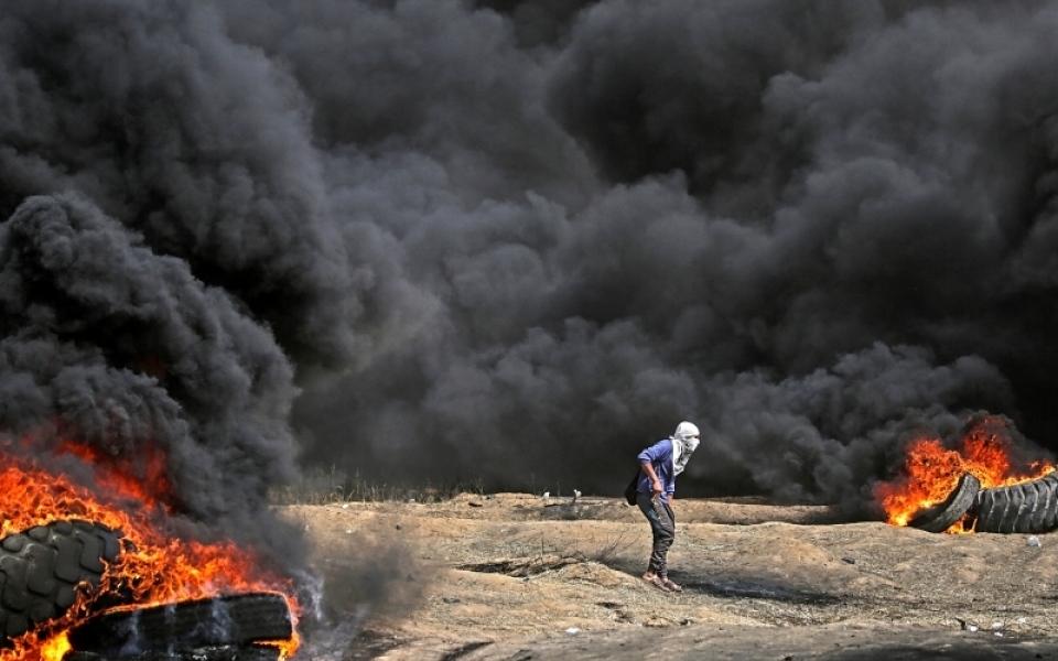 الصورة: استشهاد 5 وإصابة 654 في «مسيرات العودة»