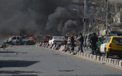 الصورة: 12 قتيلاً في هجوم انتحاري على مركز لتسجيل الناخبين في كابل