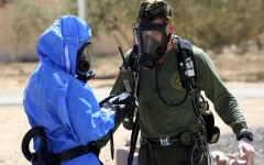 الصورة: تمرين أردني أميركي على مكافحة أسلحة الدمار الشامل