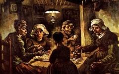 الصورة: لوحة «آكلو البطاطا» المعتمة.. لماذا هي الأهم في العالم برأي النقاد؟