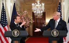 الصورة: ترامب وماكرون: نعمل على اتفاق جديد مع إيران