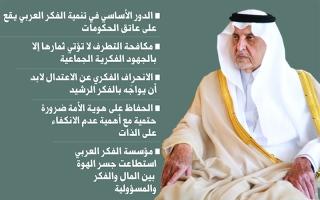 الصورة: خالد الفيصل لـ«البيان»: ليس أمام العرب سوى الاستفاقة