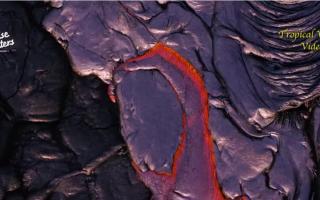 الصورة: شاهد إبداع بركان كيلاويا في الرسم