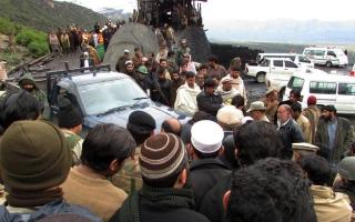 الصورة: مقتل 20 شخصا بانهيار منجم فحم في باكستان