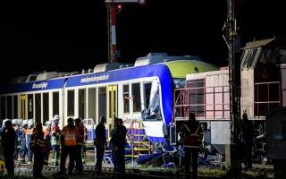 الصورة: قتيلان و14 جريحا في تصادم بين قطارين بألمانيا