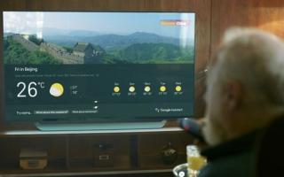 الصورة: «مساعد غوغل» على أجهزة تلفاز «إل جي»