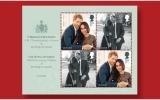 الصورة: طوابع بريد بريطانية تحمل صور الأمير هاري وميغان