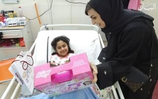 """الصورة: """"نشامى التطوعي"""".. 1000 سفير سعادة في مملكة الأطفال"""