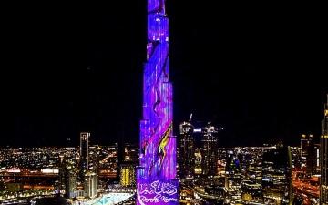 """الصورة: """"برج خليفة"""" يحتفل بشهر رمضان مع عرضين مذهلين"""