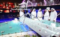 الصورة: محمد بن راشد يدشّن مشروع جسر الشندعة بكلفة 400 مليون درهم