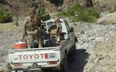 الصورة: قوات الشرعية اليمنية تسيطر على جبال النار
