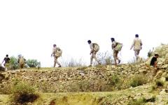 الصورة: الشرعية تقطع إمداد الحوثي بين صعدة وحجة