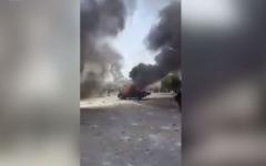 """الصورة: فيديو يرصد تحول مدينة إيرانية إلى """"ساحة حرب"""""""