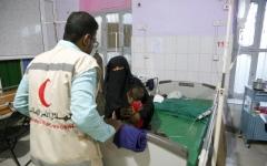 الصورة: مساعدات إماراتية لجرحى الحرب وأهالي تبن والحوطة