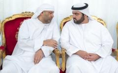 الصورة: محمد الشرقي يقدم واجب العزاء في وفاة إسماعيل الخالدي وعلي اليماحي