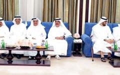 الصورة: حاكما أم القيوين ورأس الخيمة يواصلان استقبال المهنئين بشهر رمضان