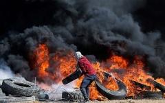 الصورة: 112 شهيداً و13 ألف إصابة في مسيرات العودة في غزة