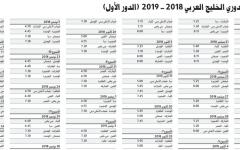 الصورة: جدول مباريات دوري الخليج العربي 2018 - 2019  (الدور الأول)