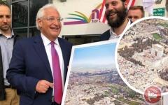 الصورة: غضب فلسطيني لتسلّم فريدمان صورة للقدس بلا «الأقصى»