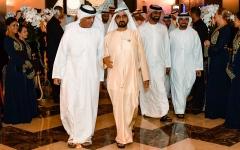 الصورة: محمد بن راشد يستقبل حاكم رأس الخيمة