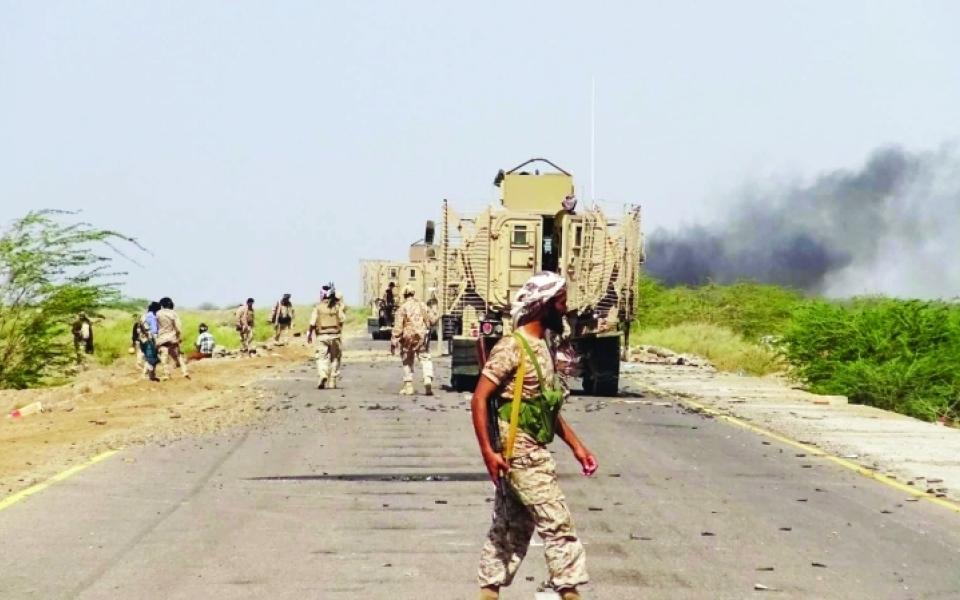 الصورة: بإسناد من قواتنا.. الشرعية تسيطر على الفازة ومفرق زبيد.. والجيش يتقدم باتجاه الحديدة