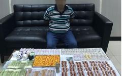 الصورة: احباط ترويج 3000 حبة مخدرة وقت الإفطار