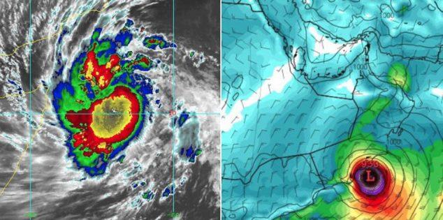 """الأرصاد السعودية تعلن انتهاء الحالة الحرجة للإعصار """"مكونو"""""""