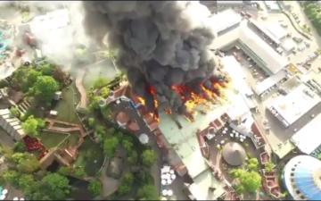 الصورة: بالفيديو.. حريق بمنتزه كبير في ألمانيا