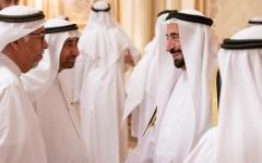 الصورة: الحكام يواصلون استقبال المهنئين بالشهر الفضيل