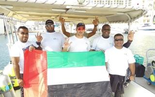 """الصورة: """"دبي للغوص التطوعي"""" أمل في قاع البحار"""