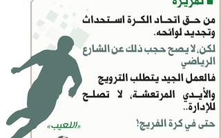 الصورة: من حق اتحاد الكرة استحداث وتجديد لوائحه