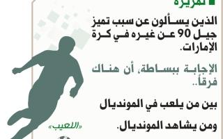الصورة: الذين يسألون عن سبب تميز جيل 90 عن غيره في كرة الإمارات