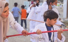 الصورة: الصورة: خالد بن تميم يرسم مليون فرحة على وجوه الصائمين في 30 يوماً